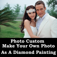 DIY Painting Custom Photo Diamond Painting Cross Stitch Customized Family Pet Couple Kids Elderly Diamond Photo