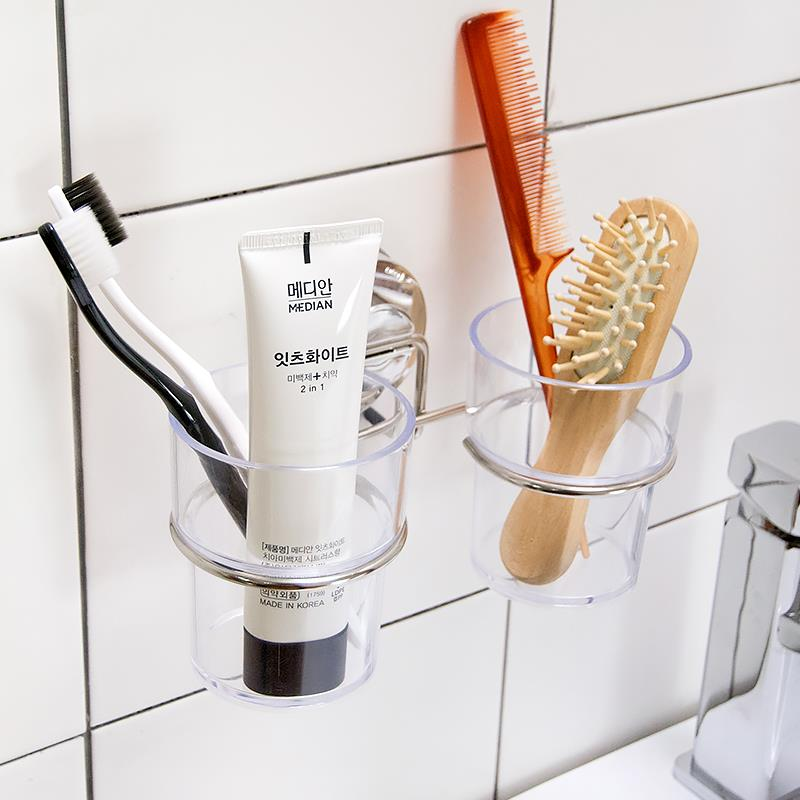 Suction Cup Toothbrush Holder  Tooth Brush For Bathroom Accessories Set Dehub Sets