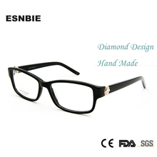 High Quality Luxury Rhinestone Eyeglass Frames Retro Glasses Women Optical Frame Womens Square