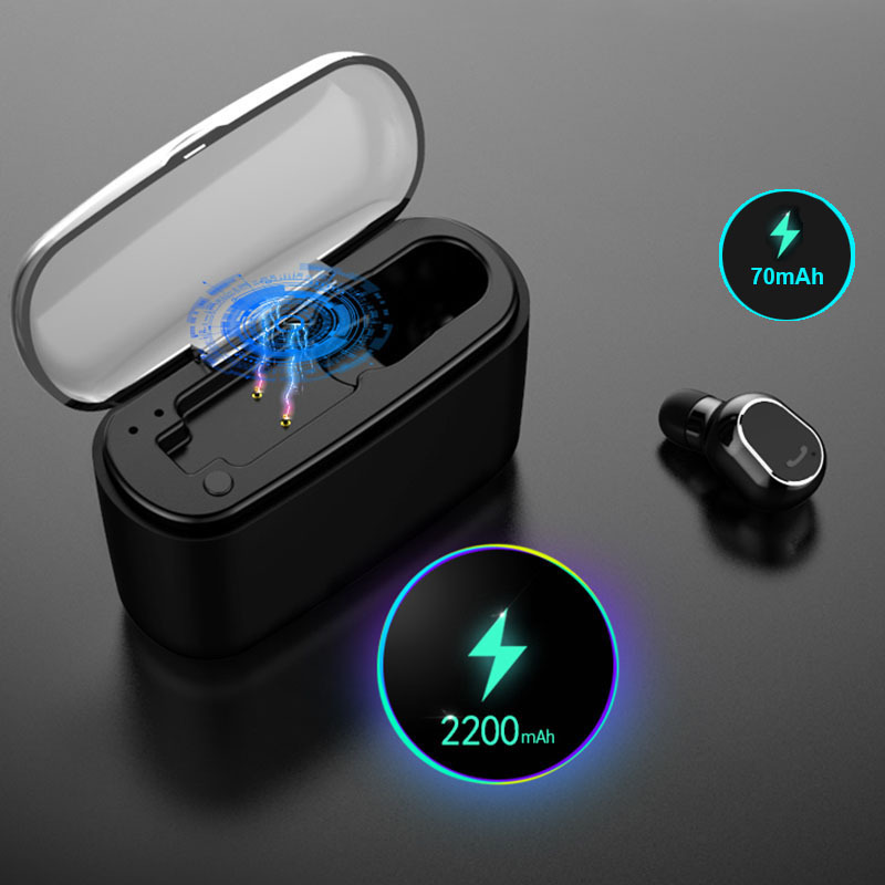 M8 TWS Bluetooth V5.0 Earphone Wireless Stereo Sport Earphone Waterproof Driving Earplug Long Standby Earbuds With Charging Box