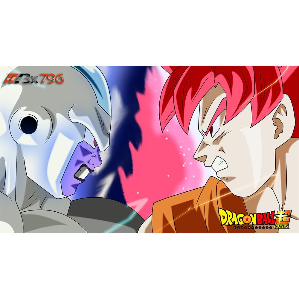 ( Dragon Ball Super Goku Vs Frost Playmat) Limited Edition 35X60CM Custom Playmat Cards Game Animation Playmat