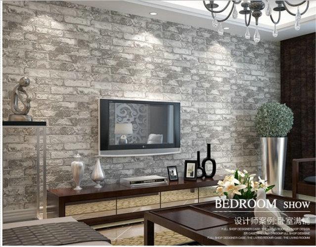 new pvc decorative 3d wall panels Chinese style retro imitation brick living room bedroom vinyl