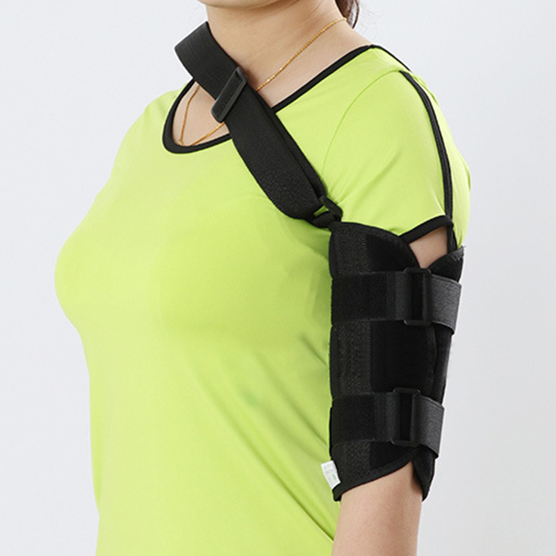 New Adjustable Elbow Stabilizer Support Brace Splint Humeral Stem Elbow External Fixed Support Orthosis Unisex Black S/M/L