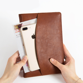 цена Business Notebook Tool A5 Creative Leather Diary Book A Simple Notebook For Office Supplies онлайн в 2017 году