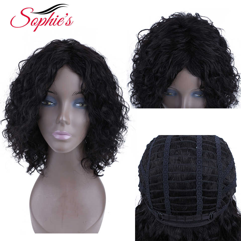 Sophie's Short Human Hair Wigs Remy Human Hai For Women Brazilian Curly Wigs 100% Human Hair Machine Made H.HORA Wigs 10 Inch