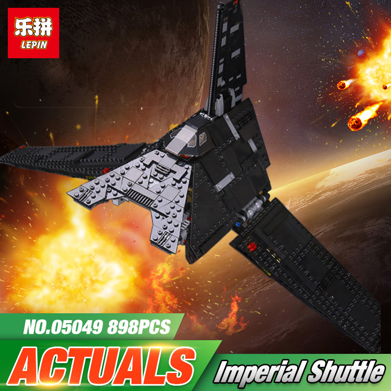 New 05049 Star Series The Krennics Imperial Shuttle Model Building Blocks Set Compatible LegoINGys 75156 Space Toys for Children new 863pcs lepin 05049 star war series 75156 the imperial shuttle building blocks bricks toys compatible with lego gift kid set