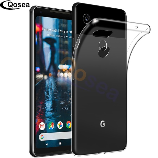 Qosea For Google Pixel 2 XL Case Transparent Slim Silicone Soft Ultra Clear TPU Skin For Google Pixel 2 XL Protective Back Cover