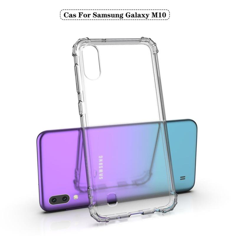 Samsung Galaxy M10 Case High Quality Airbag Shockproof Gradient TPU Bumper Transparent Mobile CellPhone Cover for Galaxy M10