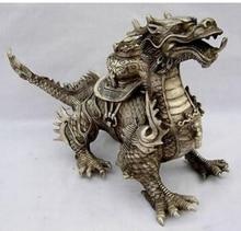 decoration brass factory outlets Tibet Silver  Huge Tibetan Silver luck Dragon Statue