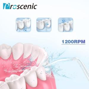 Image 4 - Proscenic sin agua Flosser hilo irrigador Oral USB recargable Dental irrigador Oral IPX7 de chorro de agua a los dientes limpios.