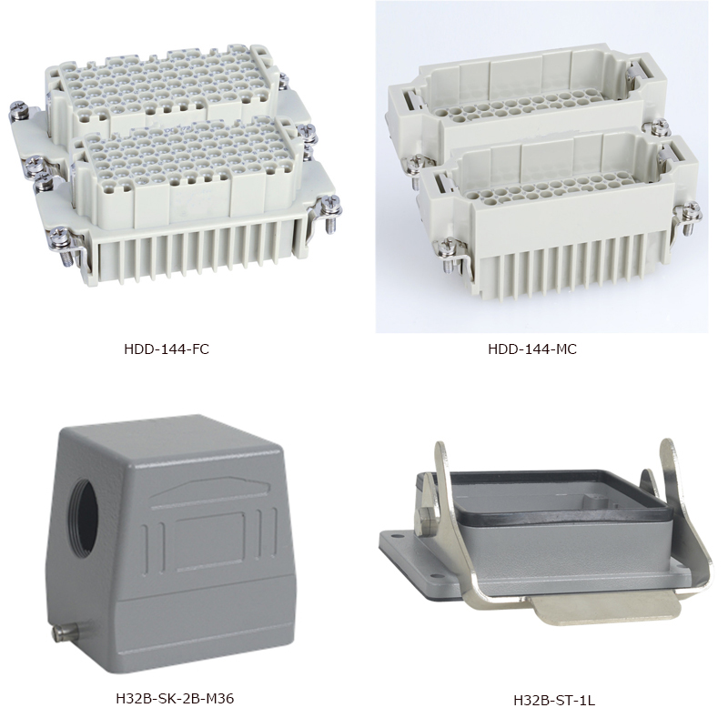 HDD-144 Industrial Copper Alloy Material 144-Pins Current 10A Voltage Heavy Duty Connector hdd pod