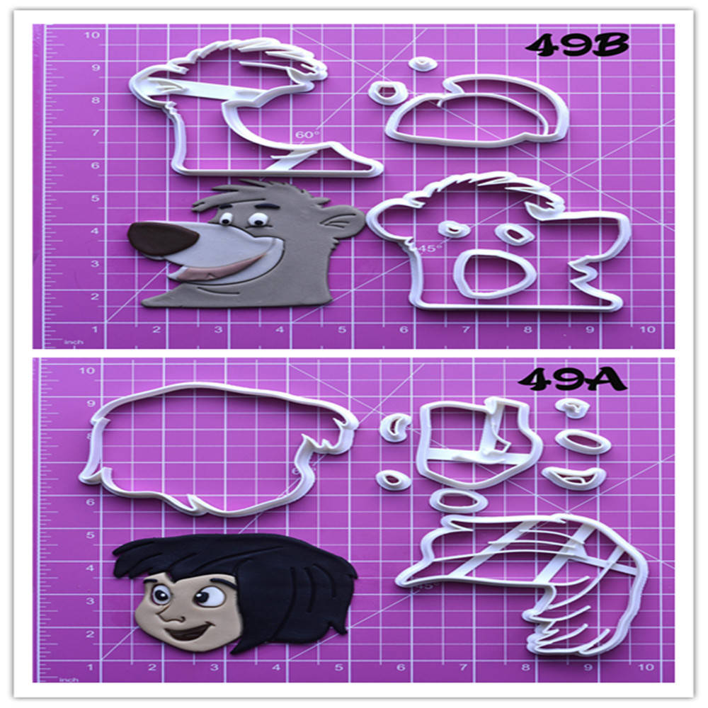 Novel The Jungle Book Character Design Custom made 3D Printed Cheap Cookie Cutter Set