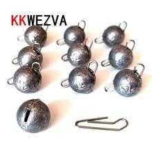 KKWEZVA 10PSC/Lot 6g-18g Lead Sinker Head Hook Jigs Bait Fishing Hooks For Soft Lure Tackle tools