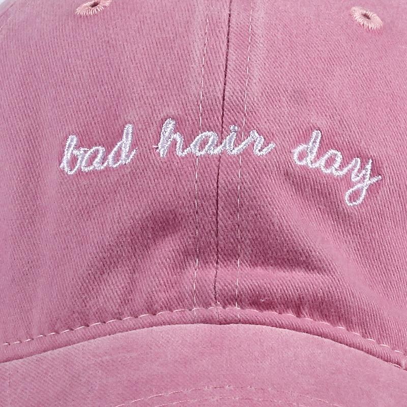 new Bad Hair Day Cap Washed Baseball Cap Women Men Hat Cap Casual Snapback Letter Dad Hat Summer Cotton Adjustable Bone Male 3