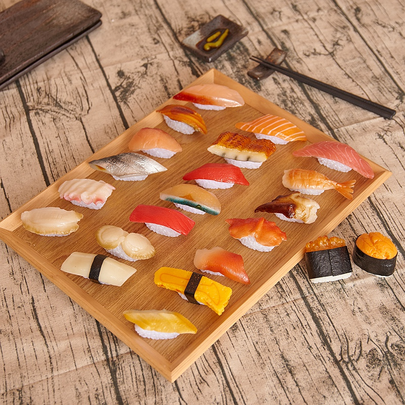 12pcs/set PVC Japanese Sushi Set Handicraft Model Perfect Table Display Food Store Shop  ...