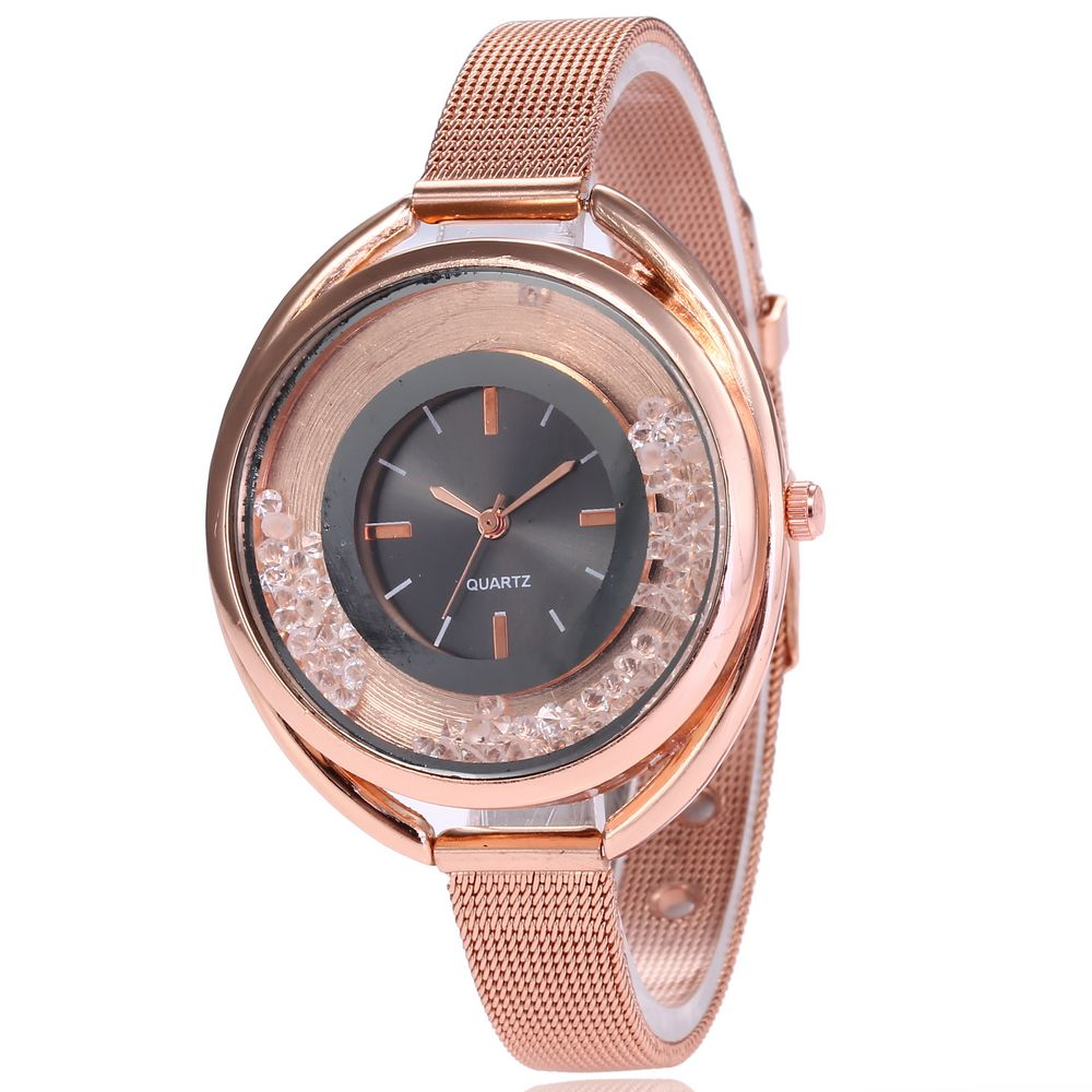 Hot Sale Fashion Stainless Steel Rose Gold Band Quartz Watch Luxury Women Rhinestone Watches Ladies Dress Watch Valentine Gift