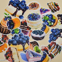 25pcs Self-made Cake Handbook Sticker Food Blueberry  Dessert Lovely Girl Heart Student Album Decorative
