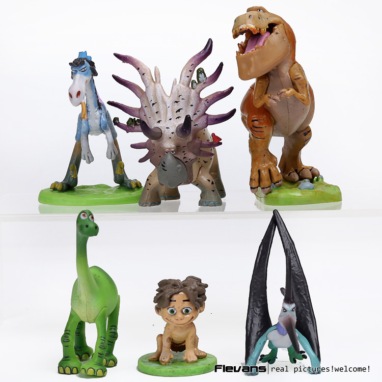 Anime Cartoon The Good Dinosaur Arlo Spot PVC Action Figure Cliff Forrest Ivy Dolls for children kids gifts 6pcs/set полуботинки the good dinosaur полуботинки