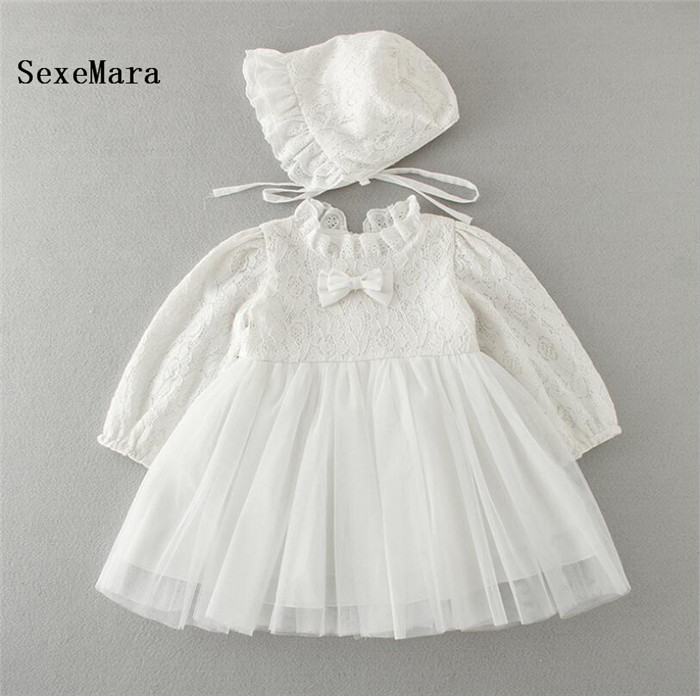 Hot Sale Real Picture New Girls Dresses Baby Long Sleeve Princess Birthday Dress for Girl Vestido Infantil Christening Gowns