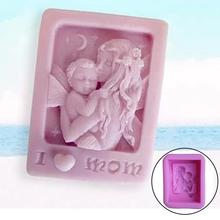 Mother Holding Baby Love Mom Craft Silicone Soap Mold DIY Molds Cake Baking Mothers Day Gift