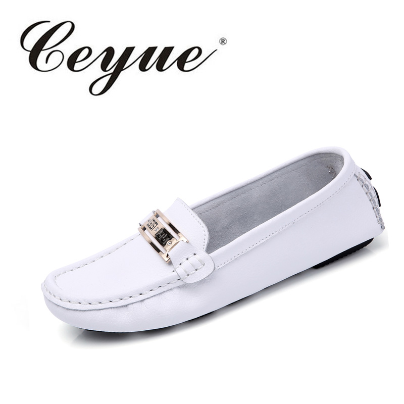 Ceyue Shoes Woman 2017 New Summer Fashion Slip-on Rubber Sole Footwear Women Flats Shoes Comfortable Casual Loafers Moccasins xiaying smile woman flats women brogue shoes loafers spring summer casual slip on round toe rubber new black white women shoes