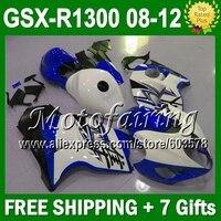 7gifts&NEW For SUZUKI Hayabusa GSXR1300 Blue white GSX R1300 08 09 10 11 12 08 GSX R1300 GSXR 1300 1614 blue GSXR 1300 Fairings
