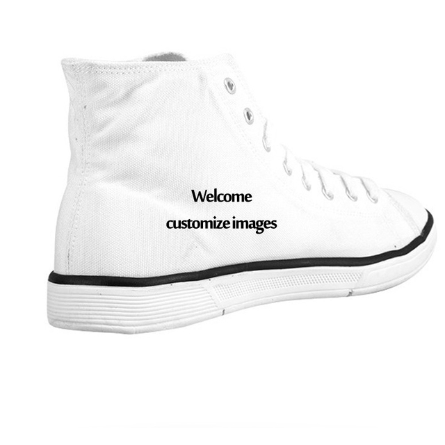 FORUDESIGNS Cute Cat Printing High-top Shoes for Women Fashion High Top Canvas Shoes Ladies Casual Breathable Vulcanize Shoes