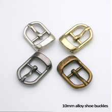 Wholesale Free shipping 20pcs/lot small metal 10mm shoe buckle with pin high polished buckle BK-005