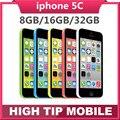 """Original desbloqueado apple iphone 5c del teléfono cámara de 8mp 8 gb 16 gb 32 gb rom ios 4.0 """"WCDMA Wifi GPS Envío Libre Usado garantía de 1 año"""