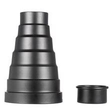 Snoot com grade do favo de mel 5 pces filtro de cor kit para elinchrom/impacto ex/calumet genesis/interfit ex flash strobe