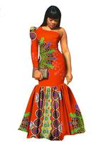 2018 Special Offer Rushed Cotton Women African Print Dresses, New, African, Women, Clothing