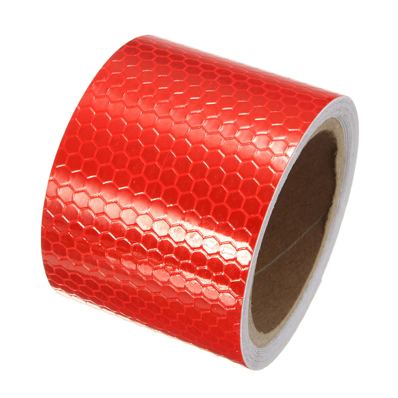 High Quality 2X10' 3 Meters White red Reflective Safety Warning Conspicuity Tape Film Sticker New Arrival new 10pcs white reflective safety security warning conspicuity tape film sticker reflective film hot sale