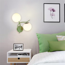 Modern nordic glass ball wall lamp fixture creative LED art deco simple light living room bedroom room bedside hotel lamp E27 цены