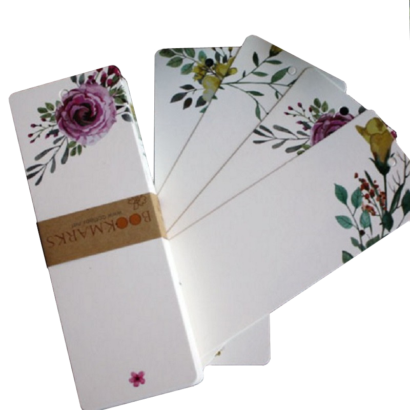 40 Pcs/pack Creative Retro Flower Bookmark Paper Student Reading Book Mark Message Cards School Office Stationery Supplies