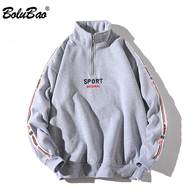 BOLUBAO Streetwear Hoodie Hip-Hop Zipper Fashion-Brand Spring Long-Sleeve Autumn Man