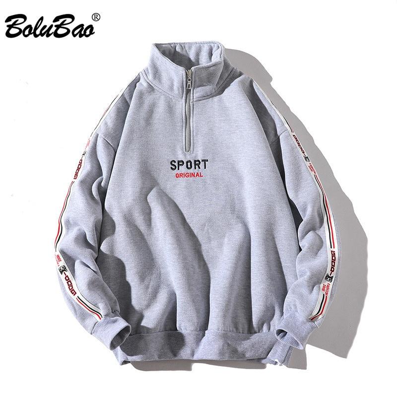 BOLUBAO Fashion Brand Hoodies Sweatshirt Men Spring Autumn Men's Streetwear Hoodie Long Sleeve Zipper Hip Hop Hoody Male Tops
