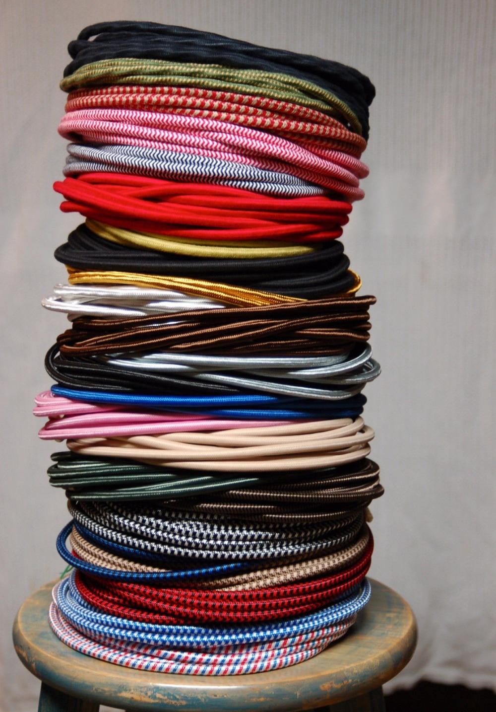 50 м/лот 2x0. 75mm2 EDISON ЛАМПЫ Провода текстиль Цвет Плетеный Провода Ткань Мощность шнур Провода кабель
