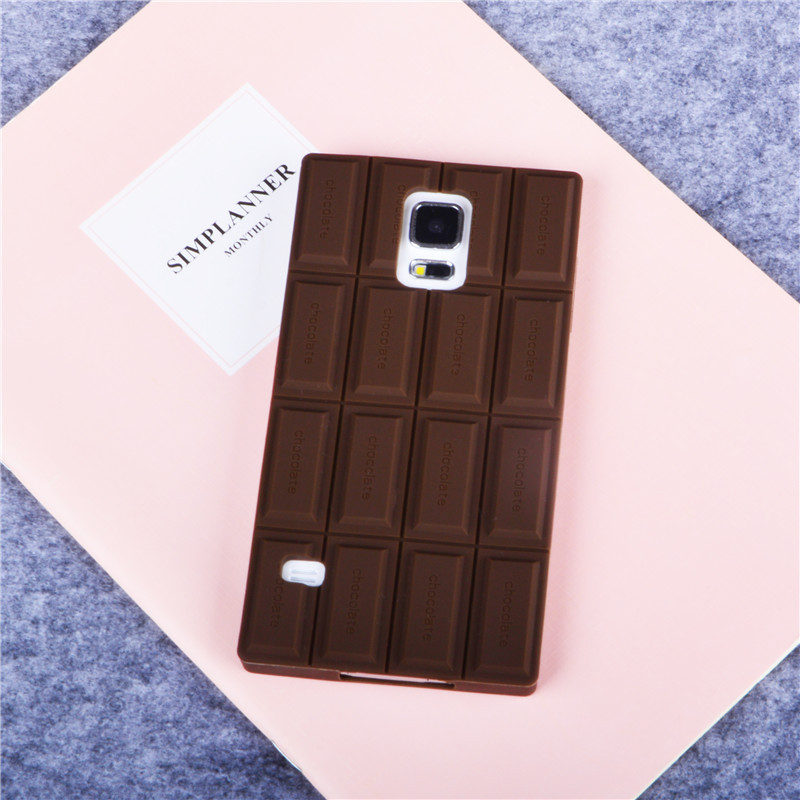 best service dec0a e7156 US $1.84 20% OFF S5 Case Cover For Samsung Galaxy S5 I9600 Case Ultra Thin  3D Chocolate Silicone Case Cover Back Cover Call Phone Cases-in Fitted ...