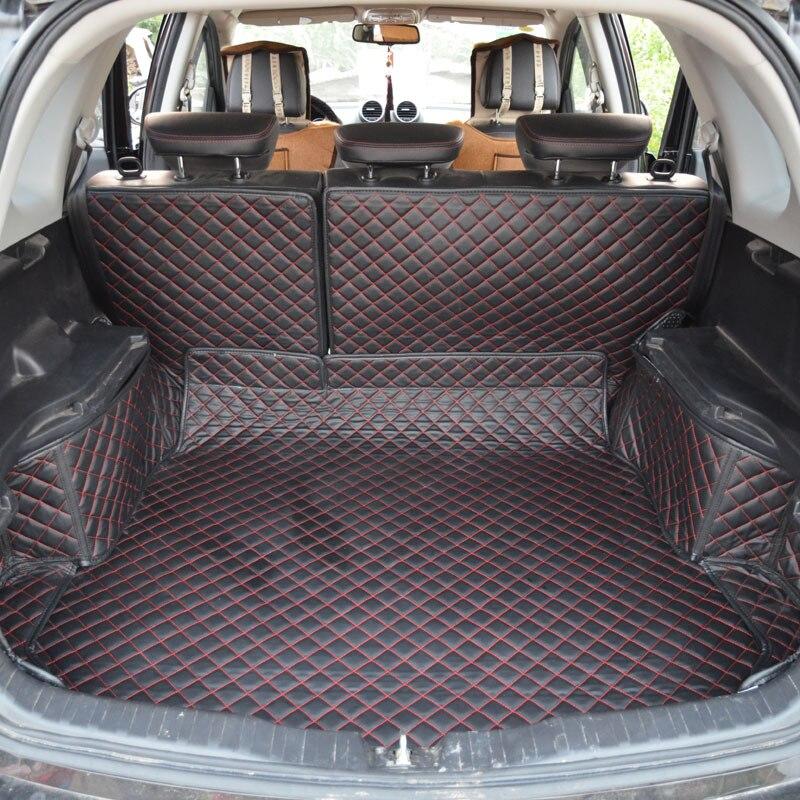 Tapis de coffre de voiture pour grande muraille Hover H6 H2 H5 entièrement entouré de cuir version entièrement personnalisée tapis de coffre avec coussinet de dossier