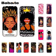 Babaite Queen Afro Melanin Poppin Black Girl TPU Soft Silicone Black Phone Case for iPhone X XS MAX 6 6S 7 7plus 8 8Plus 5S XR(China)