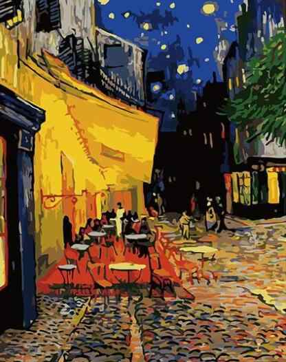3331  Van Gogh Cafe Terrace at Night - Paint by Numbers Kits for Adults DIY