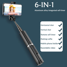 Buy Portable Integrated Tripod Selfie Stick Hidden Phone Bracket Bluetooth Button Phone Self-timer Lever Holder for Smart Phone directly from merchant!