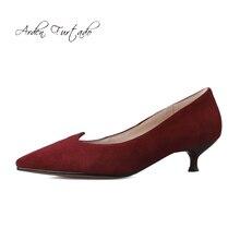 Arden Furtado летние Модная женская обувь Острый носок обувь на шпильке пикантные Элегантный чистый цвет классические лодочки Большие размеры 40