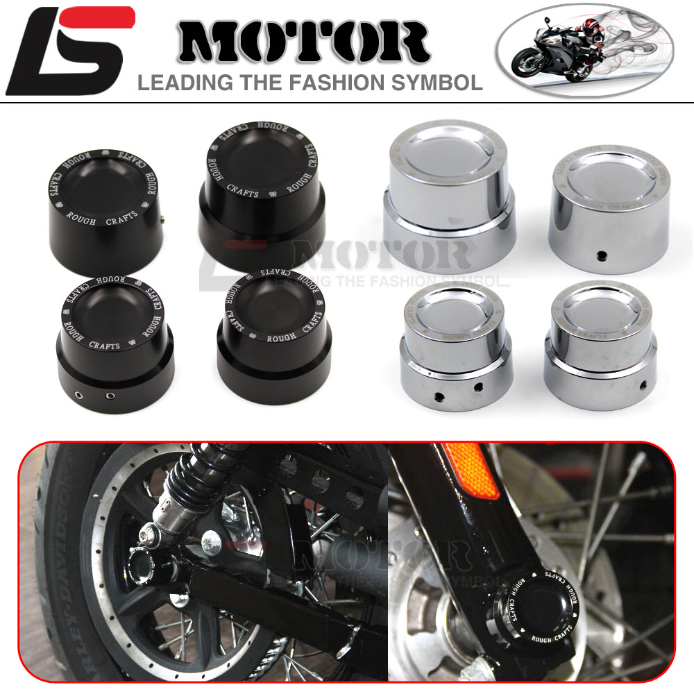 Hot sales CNC Aluminum RC Front&Rear Axle Cover Cap Nut Kit For Harley Sportster XL 883 1200 48 72
