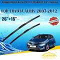"Lâminas de limpador para toyota auris (2007-2012) 2008 2009 2010 2011 Car Windscreen Windshield Wiper Wiper Blade 16 ""+ 26"" carros estilo"