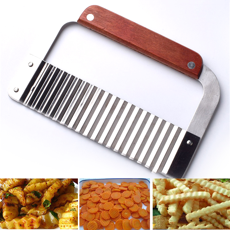 Knife-Tools Potato-Knife Cutting-Machine Fries Spiker Fancy Stainless-Steel Slicer Ripple