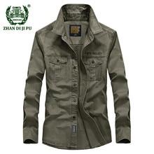 Весенние мужские высококачественные военные повседневные брендовые армейские рубашки из хлопка осенне-зимние мужские флисовые теплые плотные рубашки с длинным рукавом