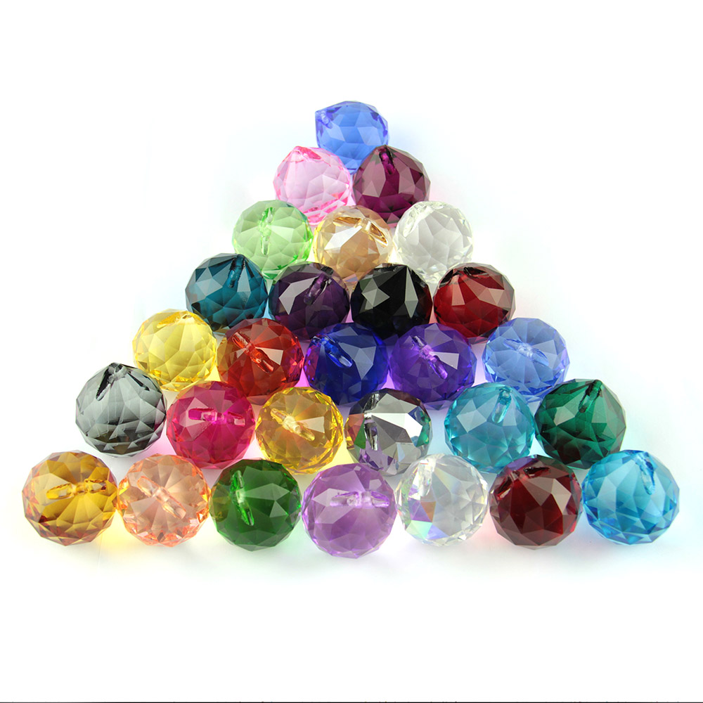 8pcs/lot 40MM MIXED COLOR Crystal prism drop Crystal hanging ball for home&wedding decoration free shipping