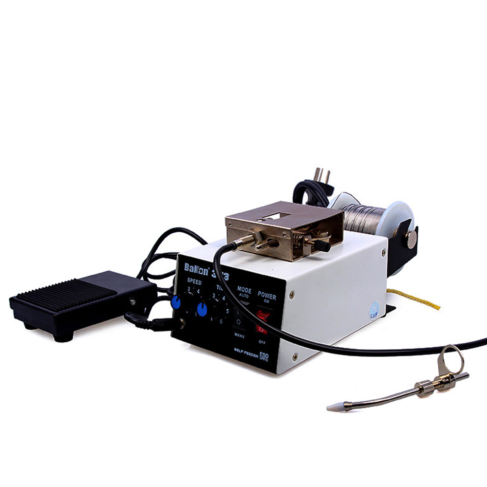 BK373 Automatic Solder Wire Feeder Pedal soldering station soldering machine welding Feeder Electronic product welding 220V