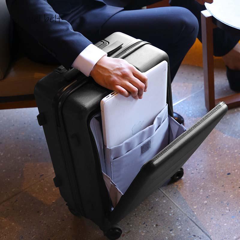 Business boarding business trip Rolling Luggage Spinner 20inch Men Travel Bags Women Cabin Suitcase Wheels Trolley